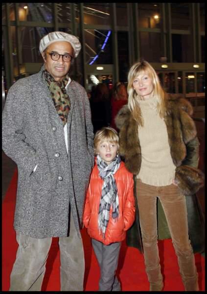 Yannick Noah avec sa femme Isabelle Camus et leur fils Joalukas