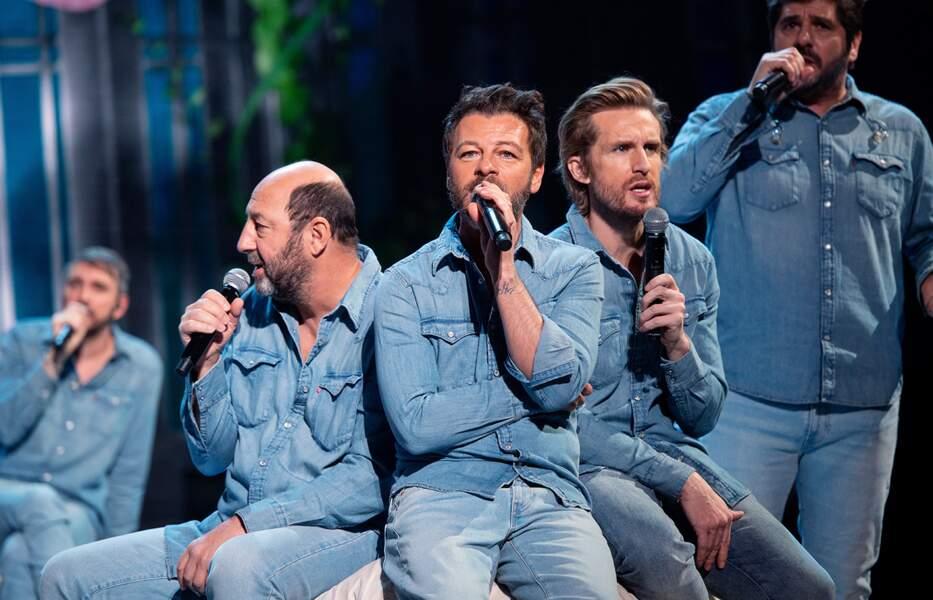 Christophe Willem, Kad Merad, Christophe Maé, Philippe Lacheau et Patrick Fiori.