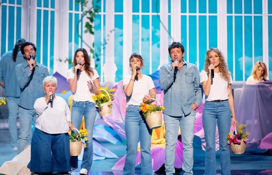 Amir, Mimie Mathy, Carla Bruni, Zaz, Patrick Bruel, Élodie Fontan et Alice Taglioni, au piano, qui participe pour la première fois à l'aventure.