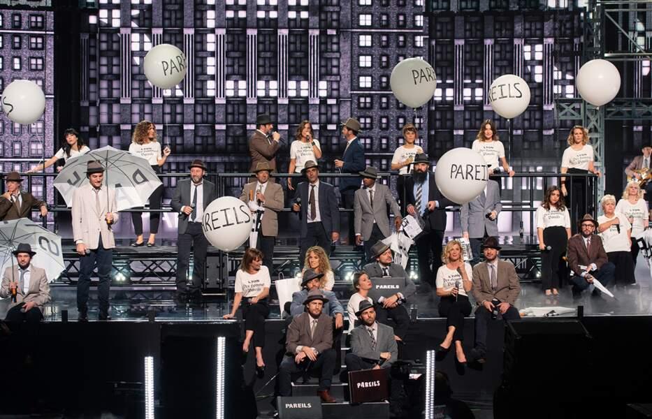 """Un hommage sera rendu par les artistes à Francis Cabrel qui n'a pas pu participer à l'édition 2021, comme prévu initialement, avec la chanson """"Des hommes pareils""""."""
