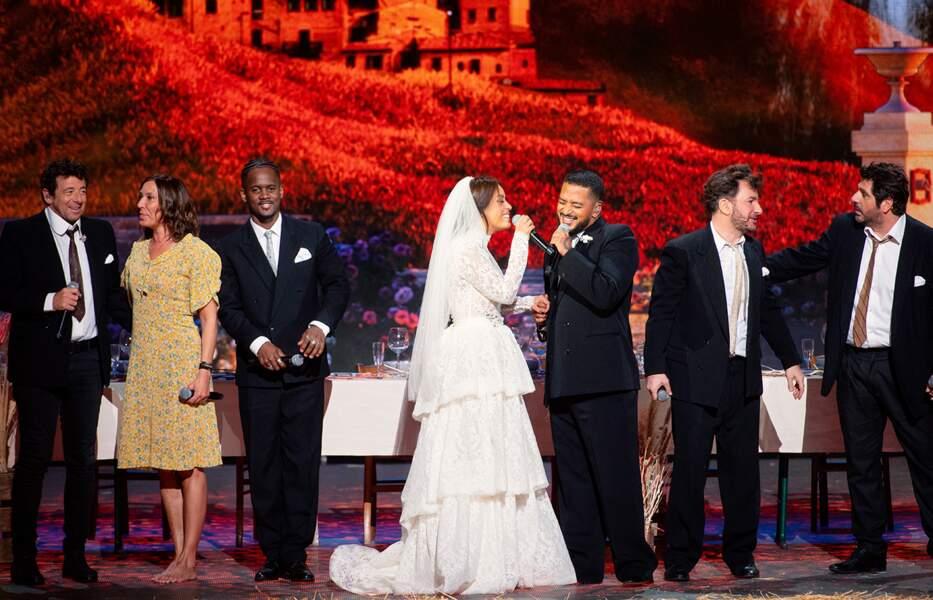 Jour de mariage avec Patrick Bruel, Zazie, Black M, Amel Bent, Slimane, Michaël Youn et Patrick Fiori.