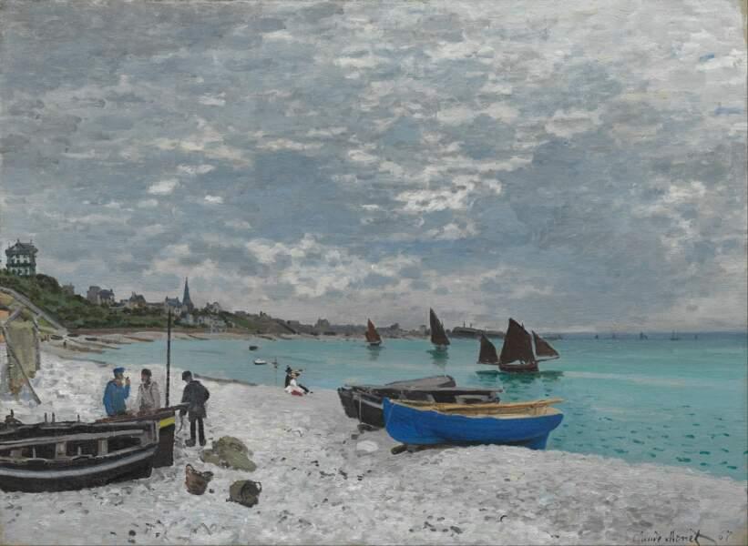 La plage de Sainte-Adresse vue par Claude Monet