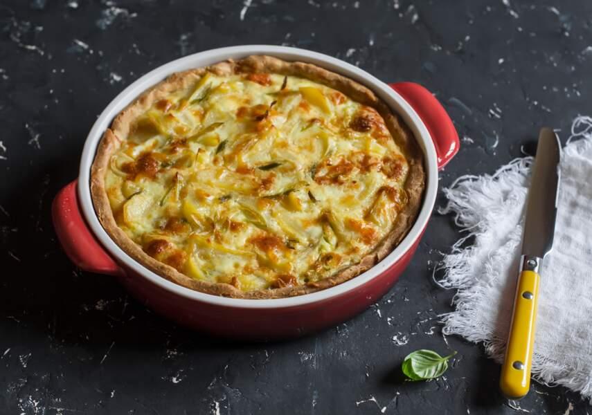 La recette délicieuse de tarte aux pommes de terre de Christophe Michalak