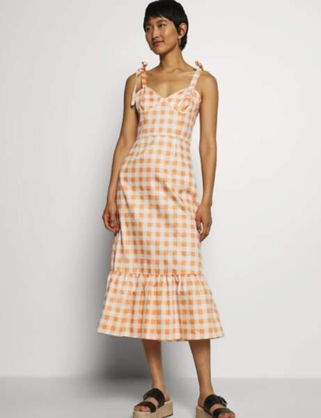 Imprimé carreaux : la robe à nouer