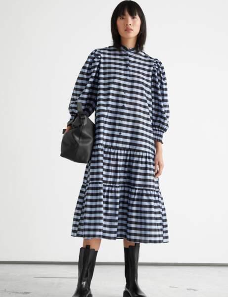 Imprimé carreaux : la robe oversize