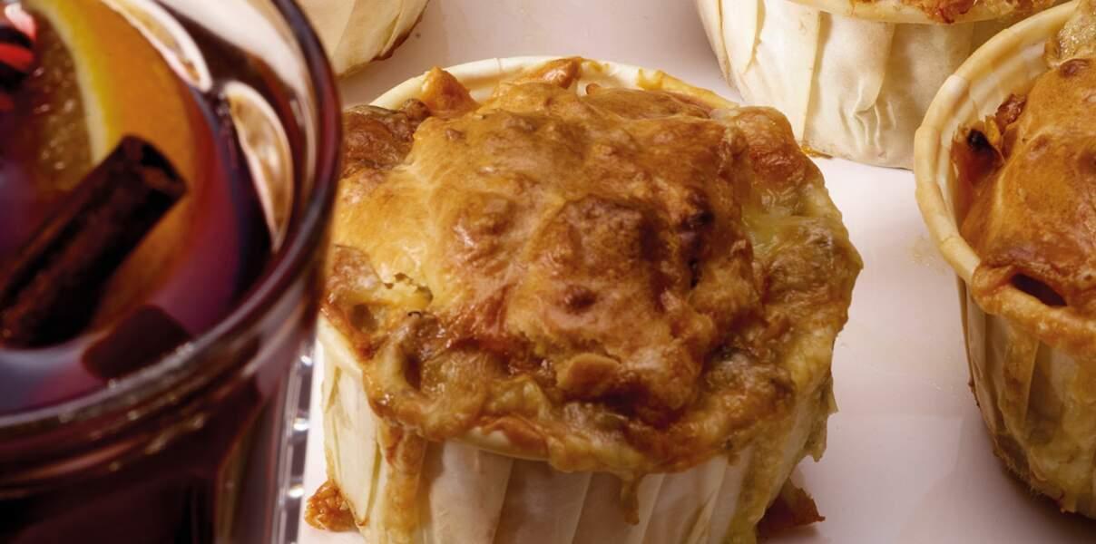Muffins aux Morbier AOP et tomates séchées