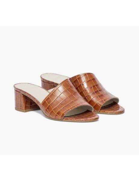 Chaussures tendance : les mules façon croco