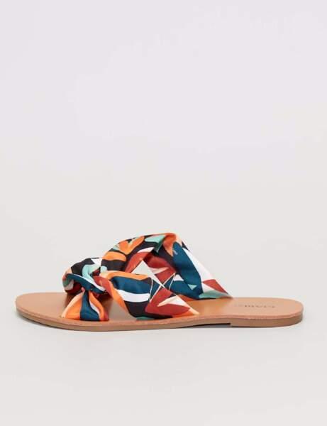 Chaussures tendance : les mules coloblock