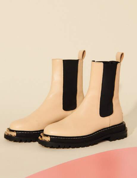 Chaussures tendance : les chunky boots blanches