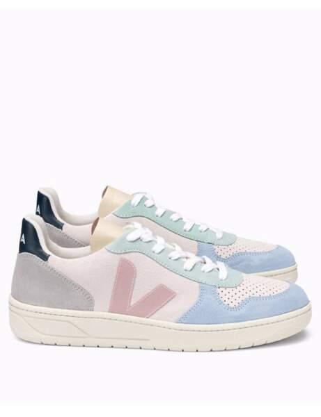 Chaussures tendance : les baskets pastel