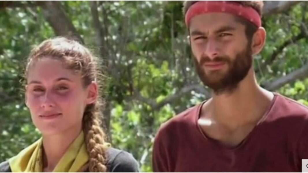 """En 2016, Jesta, 24 ans, et Benoît, 22 ans, participent à l'édition de """"Koh-Lanta : l'île au trésor""""."""