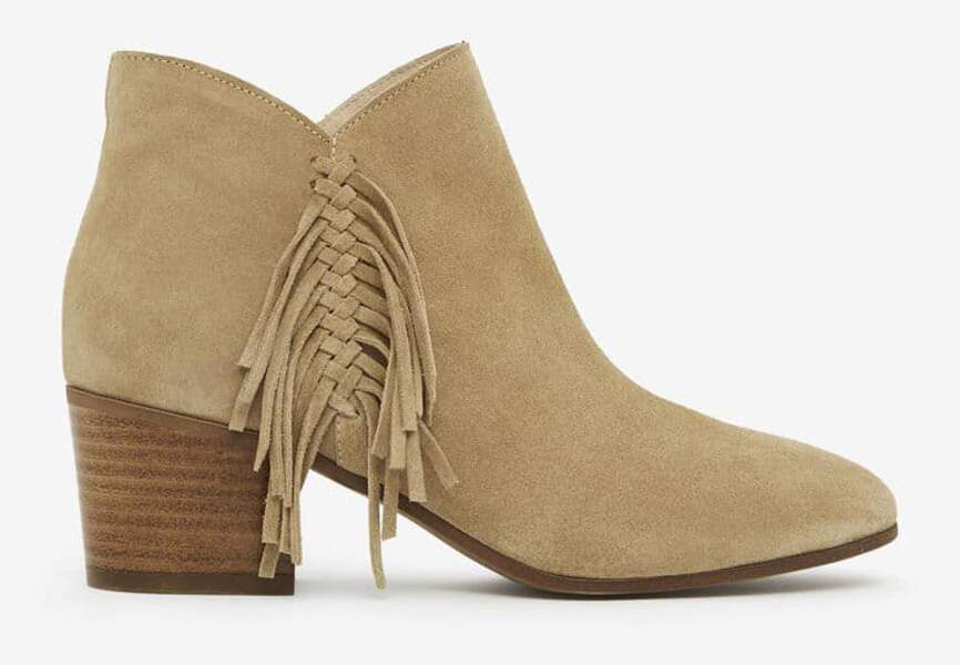 Bottines tendance : franges