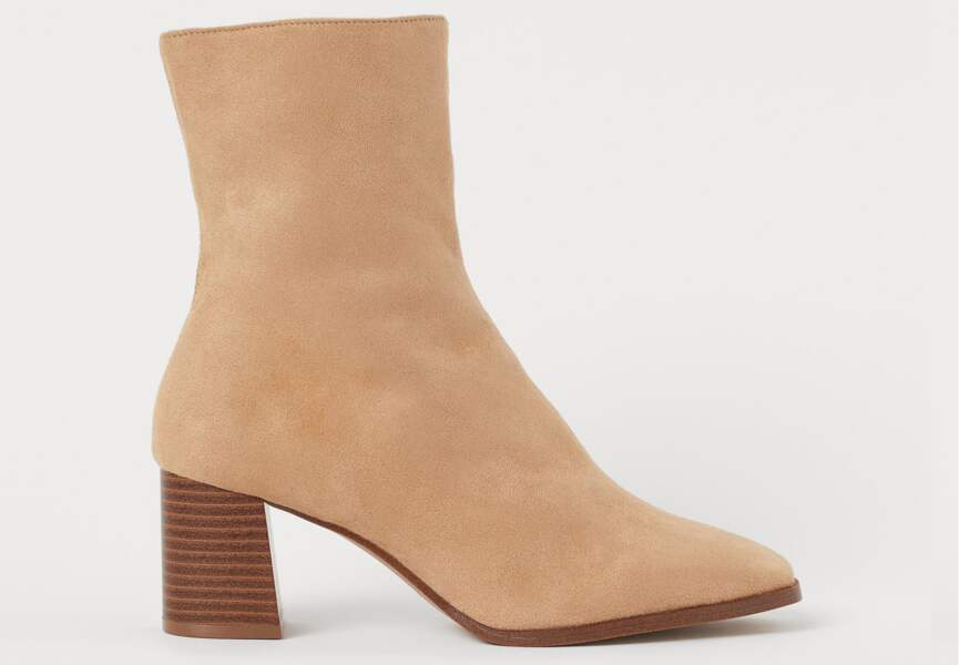 Bottines tendance : à bout carré