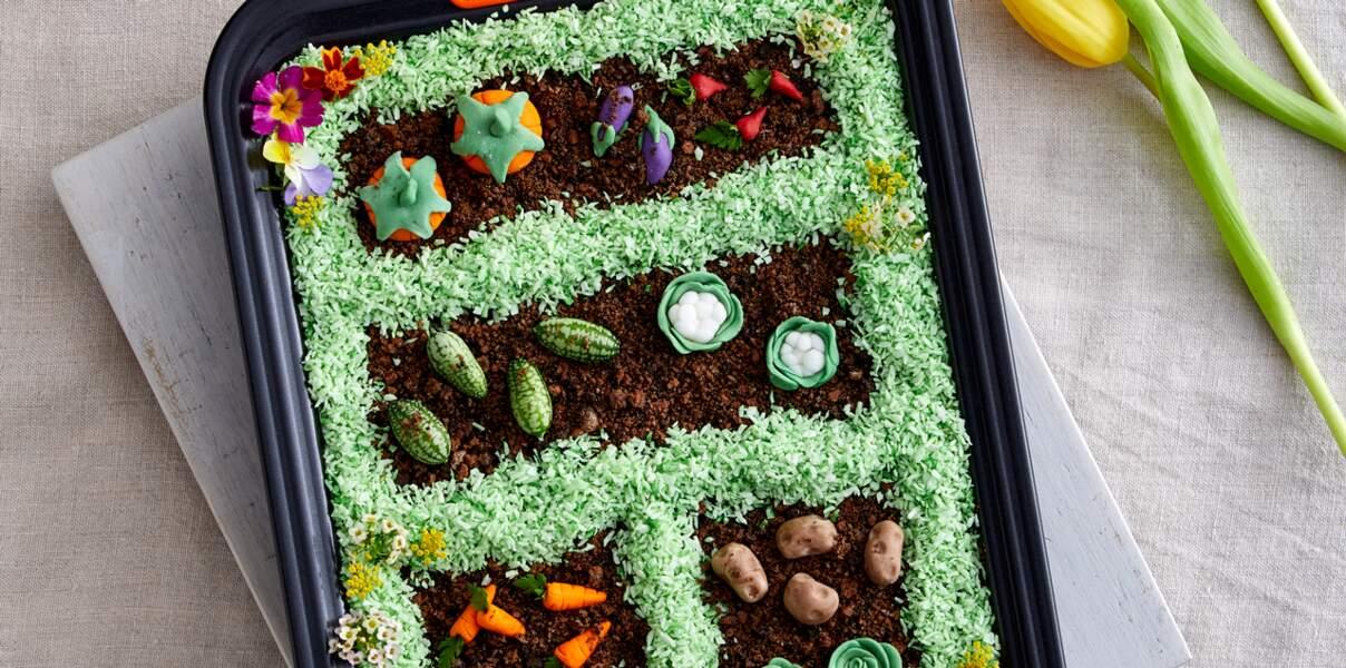 Gâteau de Pâques au chocolat malté