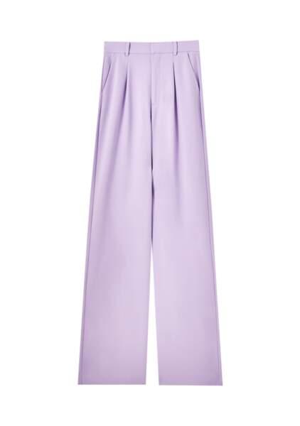 Mauve tendance : un pantalon fluide