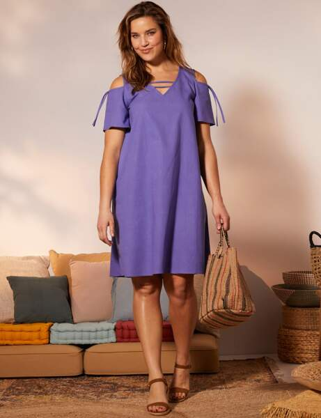 Robe grande taille : cut-out