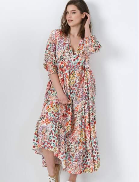 Robe grande taille : multicolore
