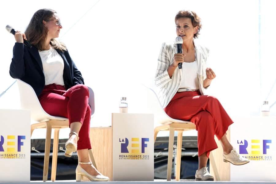 Najat Vallaud-Belkacem, devenue directrice France de l'ONG ONE, en avril 2020, lors de la REF annuelle (Rencontre des Entrepreneurs de France), à l'Hippodrome de Longchamp, le 27 août 2020, à Paris.