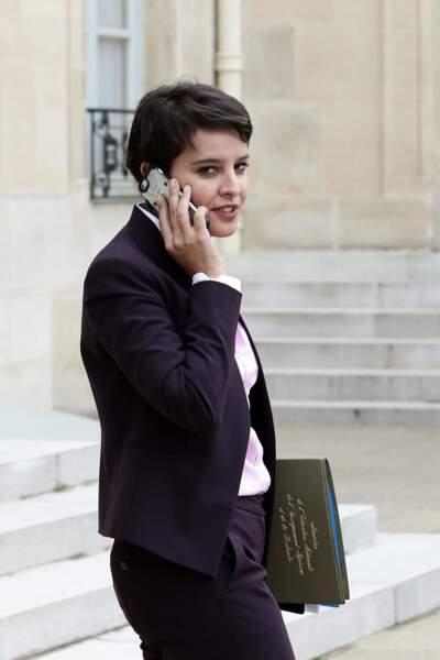 Najat Vallaud-Belkacem sortant du conseil des ministres, au palais de l'Elysée, le 19 octobre 2016.