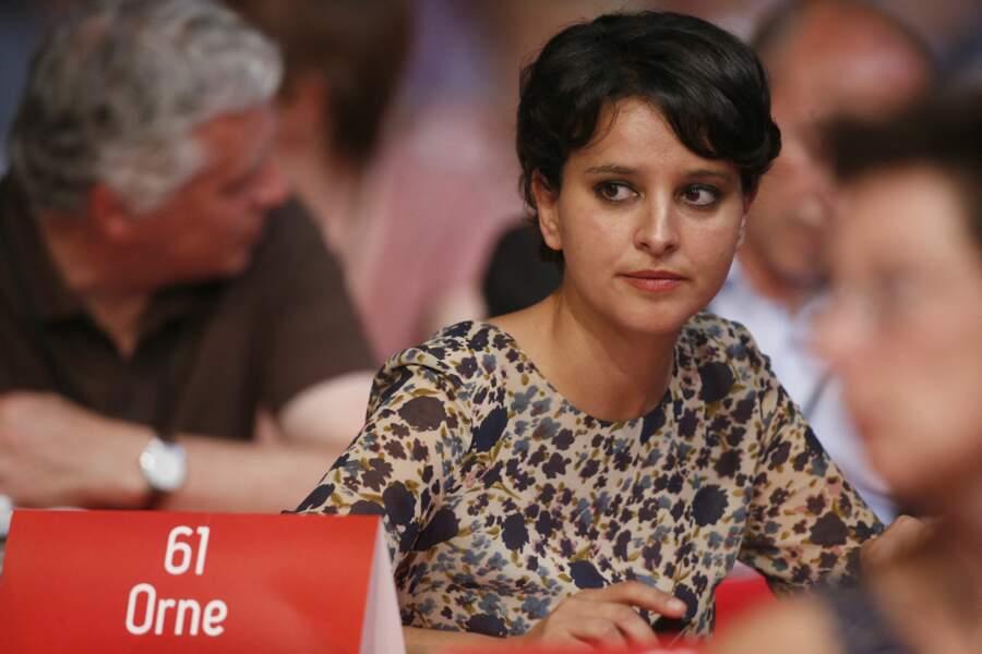 Najat Vallaud-Belkacem lors du 77ème congrès du Parti Socialiste, au Parc des Expositions de Poitiers, le 6 juin 2015.