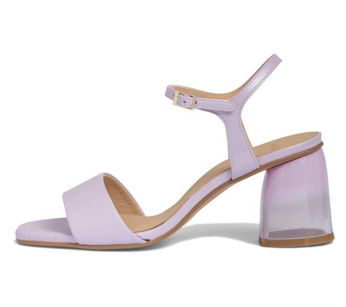 Mauve tendance : des sandales à talon