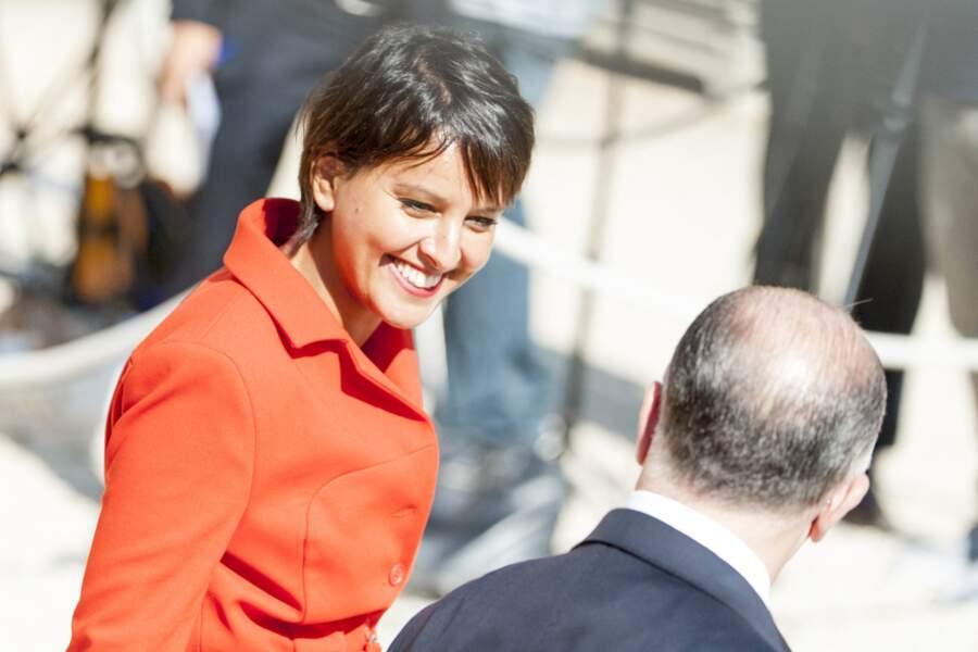 Sortie du conseil des ministres au palais de l'Elysée, après la démission d'Emmanuel Macron de ses fonctions de ministre de l'Économie, de l'Industrie et du Numérique, le 31 août 2016.