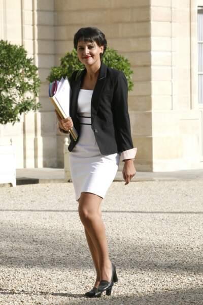 Najat Vallaud-Belkacem lors du premier conseil des ministres de la rentrée à l'Élysée, le 22 août 2012.