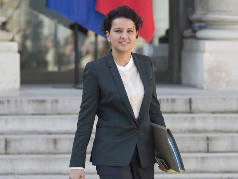 Najat Vallaud-Belkacem sortant du conseil des ministres, au palais de l'Elysée, le 30 mars 2017.