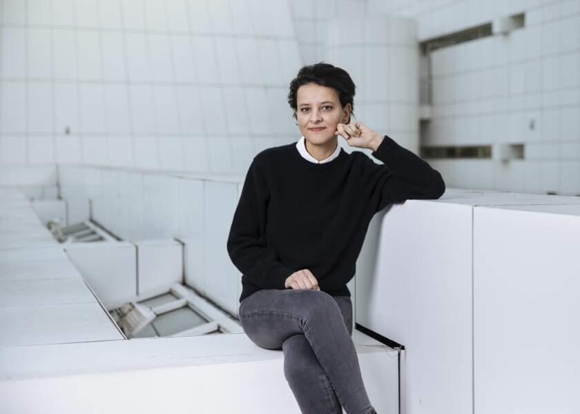 """Najat Vallaud Belkacem lors d'une séance photo à Paris, le 19 février 2021, pour le """"Journal du Dimanche"""".  Le 13 mars 2021, elle annonce son grand retour en politique avec sa candidature aux prochaines élections régionales en Auvergne-Rhône-Alpes, sous l'étiquette PS."""