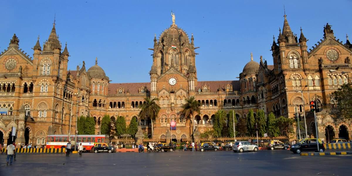 La gare de Chhatrapati Shivaji à Mumbai, classée au patrimoine mondial de l'Unesco