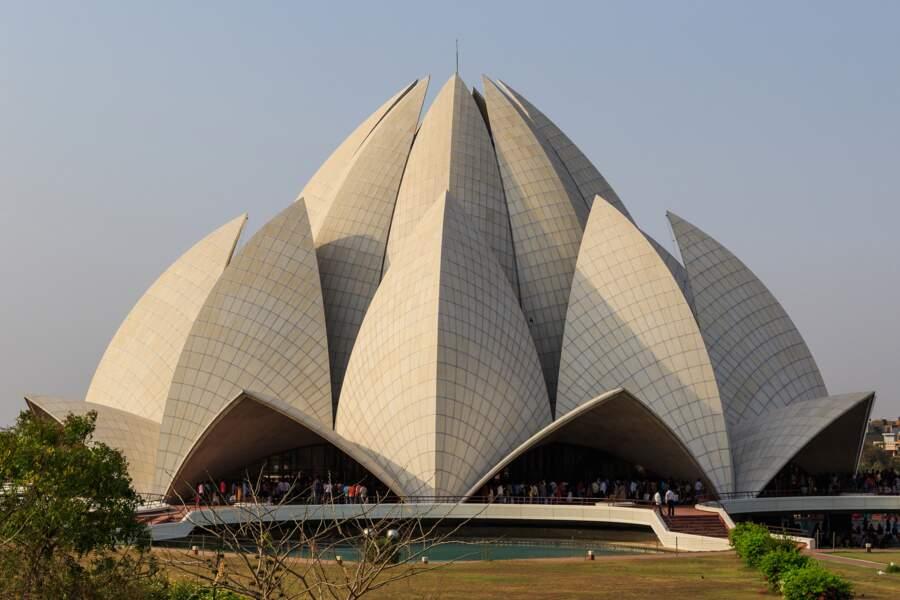 Lieu de cultes, le Temple du Lotus à New Delhi