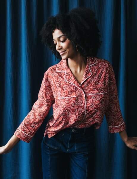 Tendance bandana : la chemise pyjama