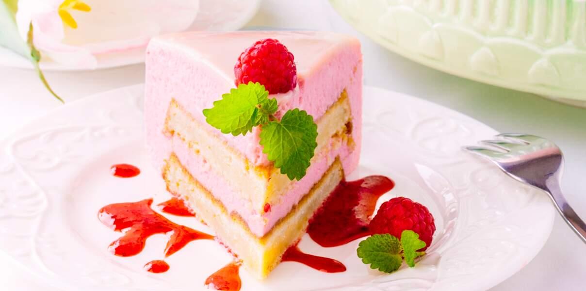 Gâteau à la mousse de framboise