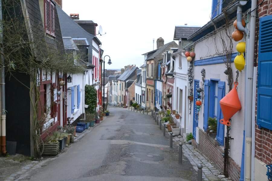 Les minuscules maisons de pêcheurs, typiques de Saint-Valéry-sur-Somme