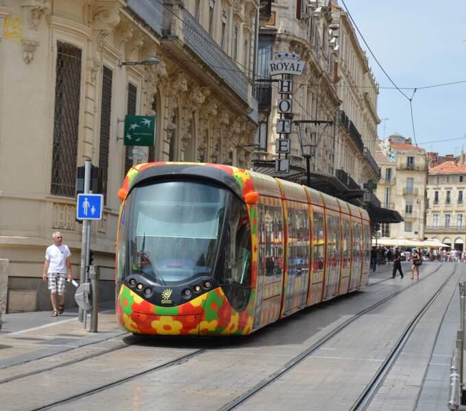 La décoration du tramway aux couleurs du Sud