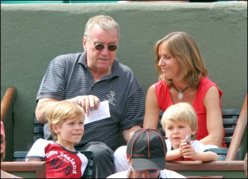 La famille Rénier à Roland-Garros en mai 2005.