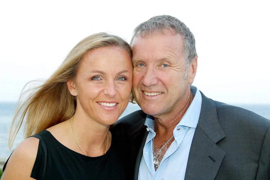 Yves Rénier et sa femme Karin au 42e festival de Monte-Carlo, en juillet 2002.