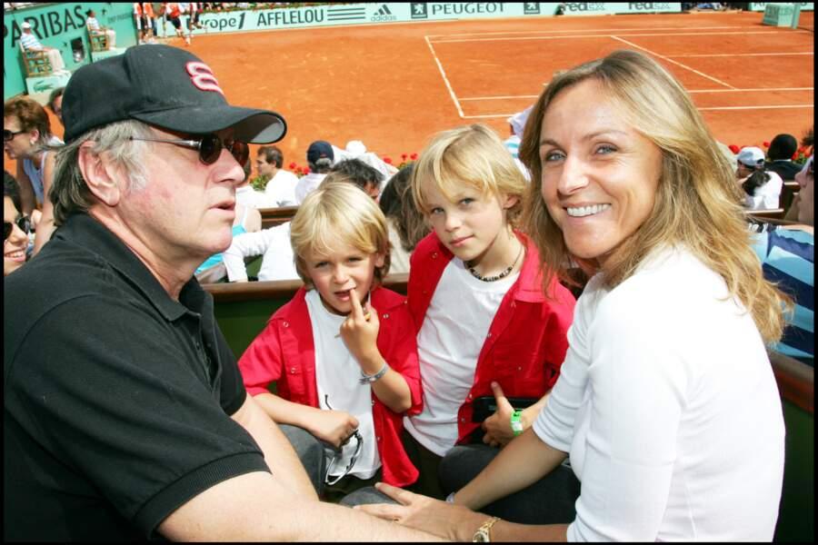 La famille Rénier à Roland-Garros, en juin 2006.