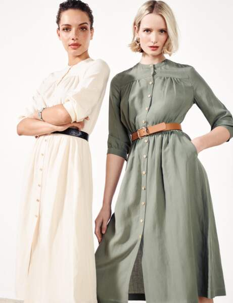 Tendance lin : la robe-chemise