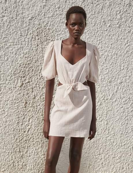 Tendance lin : la robe cut-out