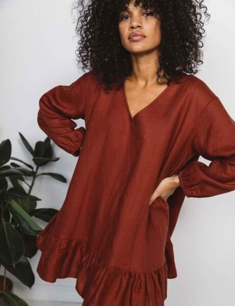 Tendance lin : la robe évasée