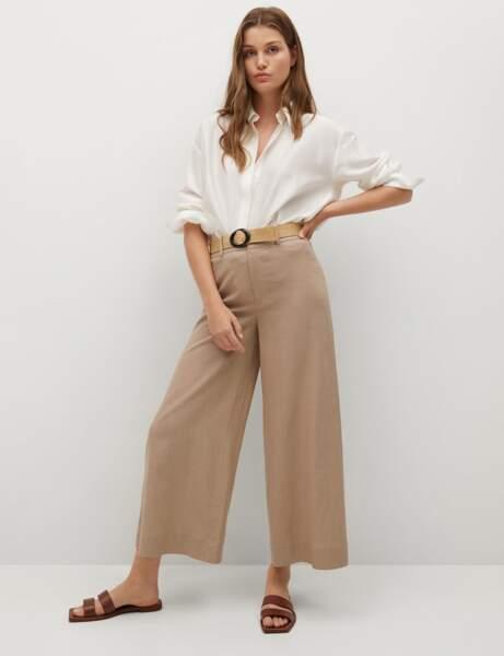 Tendance lin : la jupe culotte