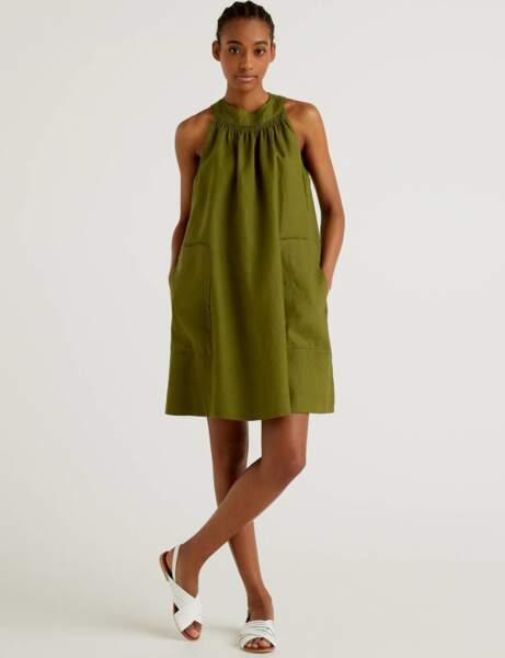 Tendance lin : la robe dénudée