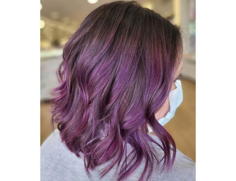 Cheveux violets version soft