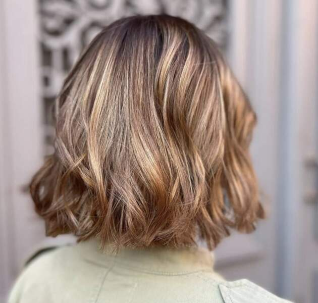 Wavy hair avec balayage