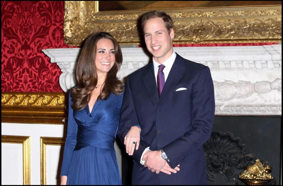 William et Kate annoncent leurs fiançailles, le 16 novembre 2010
