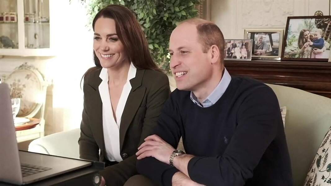 William et Kate en visioconférence