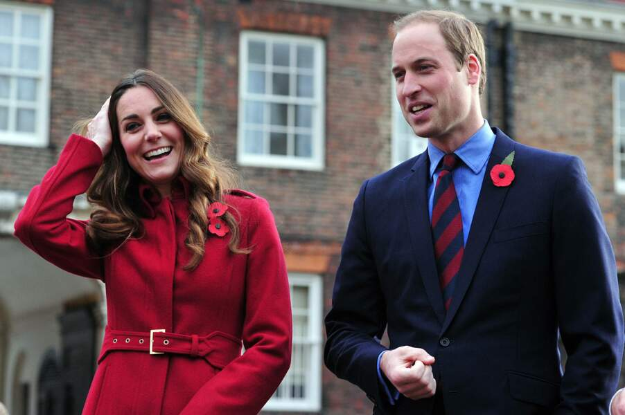 William et Kate lors du Poppy Day