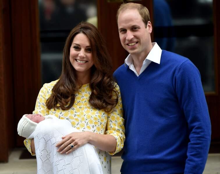 Kate Middleton a accouché de leur deuxième enfant, la princesse Charlotte