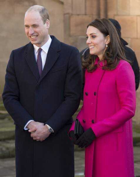 William et Kate (enceinte)